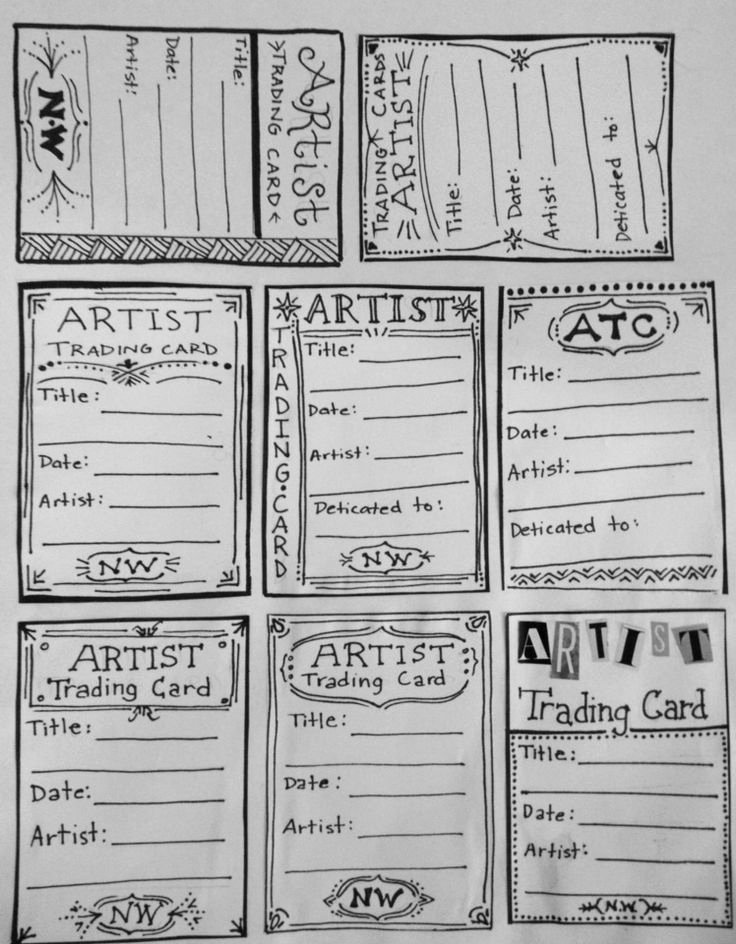 Artist Trading Cards Template Unique Best 25 Artist Trading Cards Ideas On Pinterest