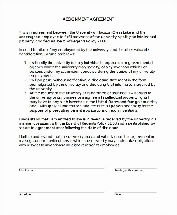 Assignment Of Contract Template Awesome 15 assignment Agreement Templates Word Pdf Pages