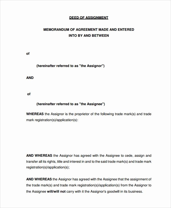 Assignment Of Contract Template Best Of Sample assignment Of Contract 6 Free Documents Download