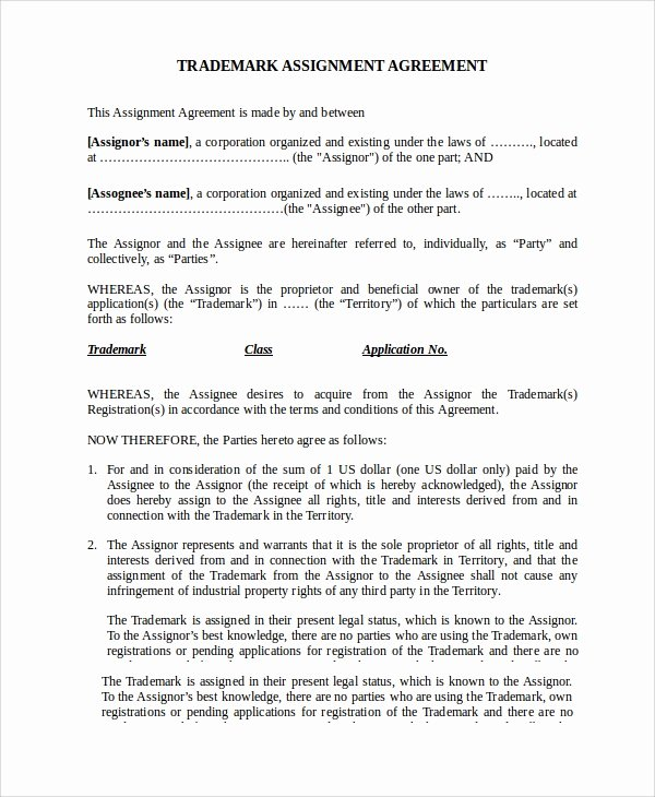 Assignment Of Contract Template Elegant 15 assignment Agreement Templates Word Pdf Pages