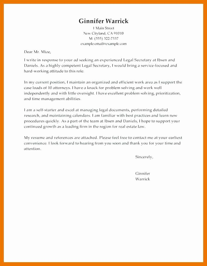 Attorney Cover Letters Samples Awesome 9 10 Law Firm Cover Letter Example