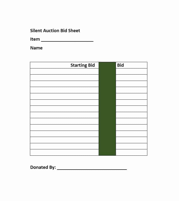 Auction Bid Sheet Template Awesome 21 Silent Auction Bid Sheets Free Download [word Excel] 2019