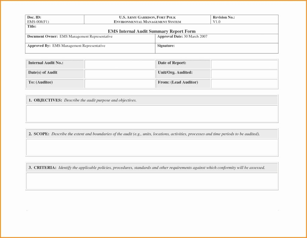 Audit Report Template Word Beautiful Awesome Audit Reportple format form In Word Examples