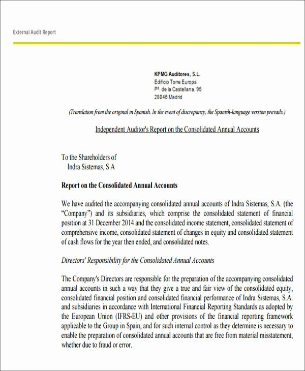 Audit Report Template Word Best Of 7 Sample External Audit Reports Docs Ms Word Page7