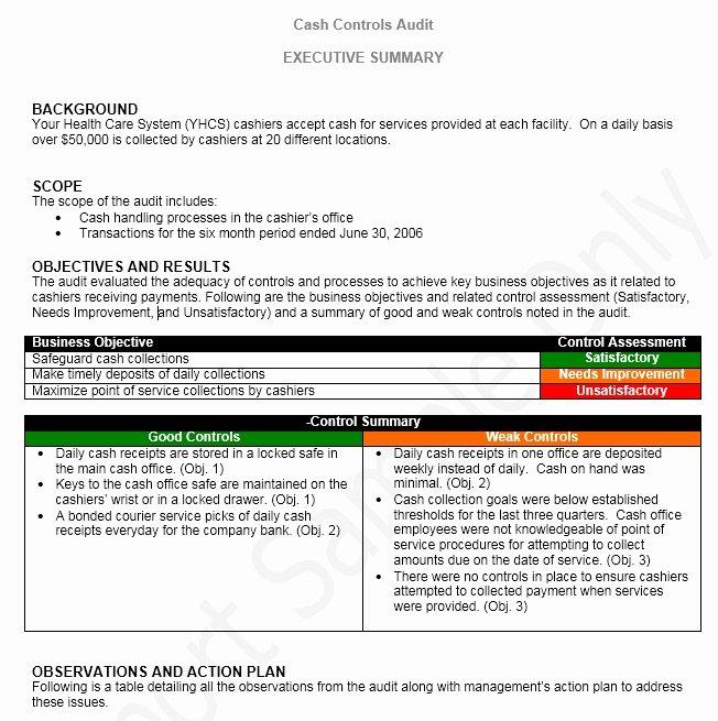 Audit Report Template Word Elegant 13 Free Sample Audit Report Templates Printable Samples