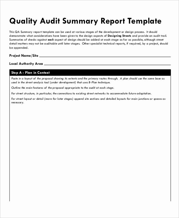 Audit Report Template Word Fresh 13 Quality Audit Report Templates Google Docs Word