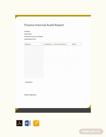 Audit Report Template Word Inspirational 23 Audit Report Templates Docs Pdf Pages