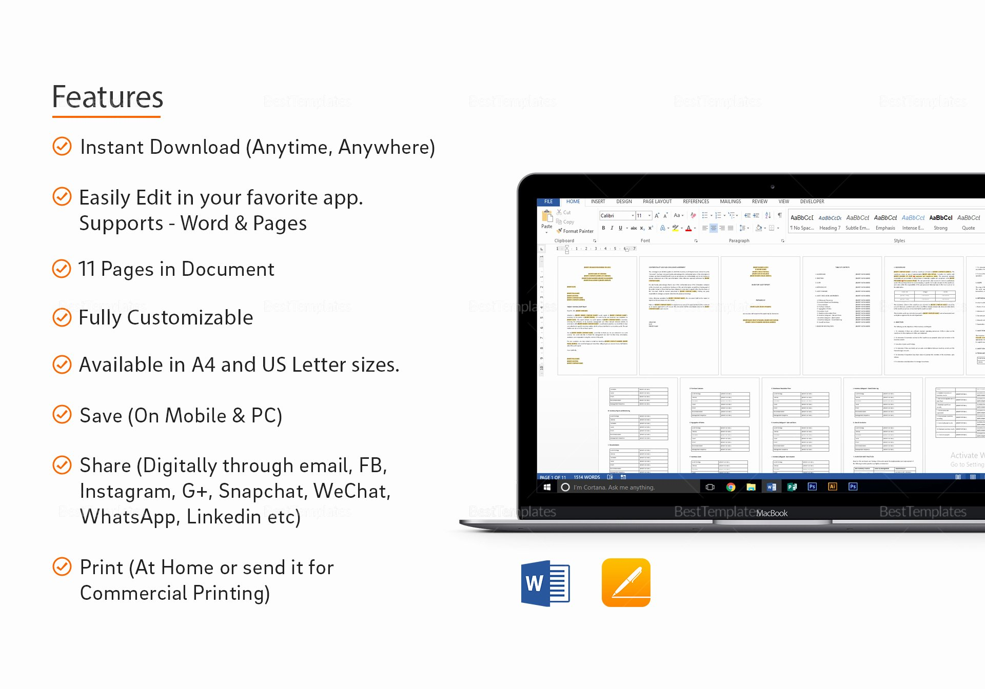 Audit Report Template Word Inspirational Inventory Audit Report Template In Word Apple Pages
