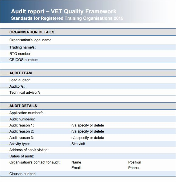 Audit Report Template Word Lovely Sample Audit Report 16 Documents In Pdf Word