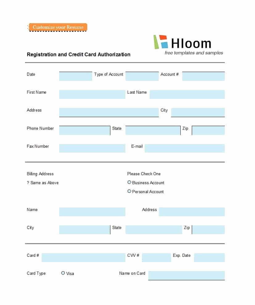 Authorization for Credit Card Use New 41 Credit Card Authorization forms Templates Ready to Use