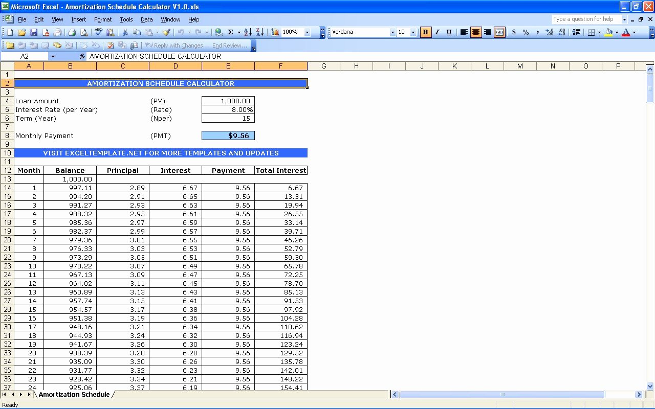 Auto Amortization Schedule Excel Best Of Excel Templates Adds Plimentary Loan Amortization