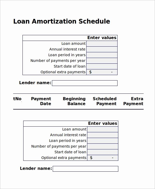 Auto Amortization Schedule Excel Luxury Sample Excel Amortization Schedule 11 Examples In Excel