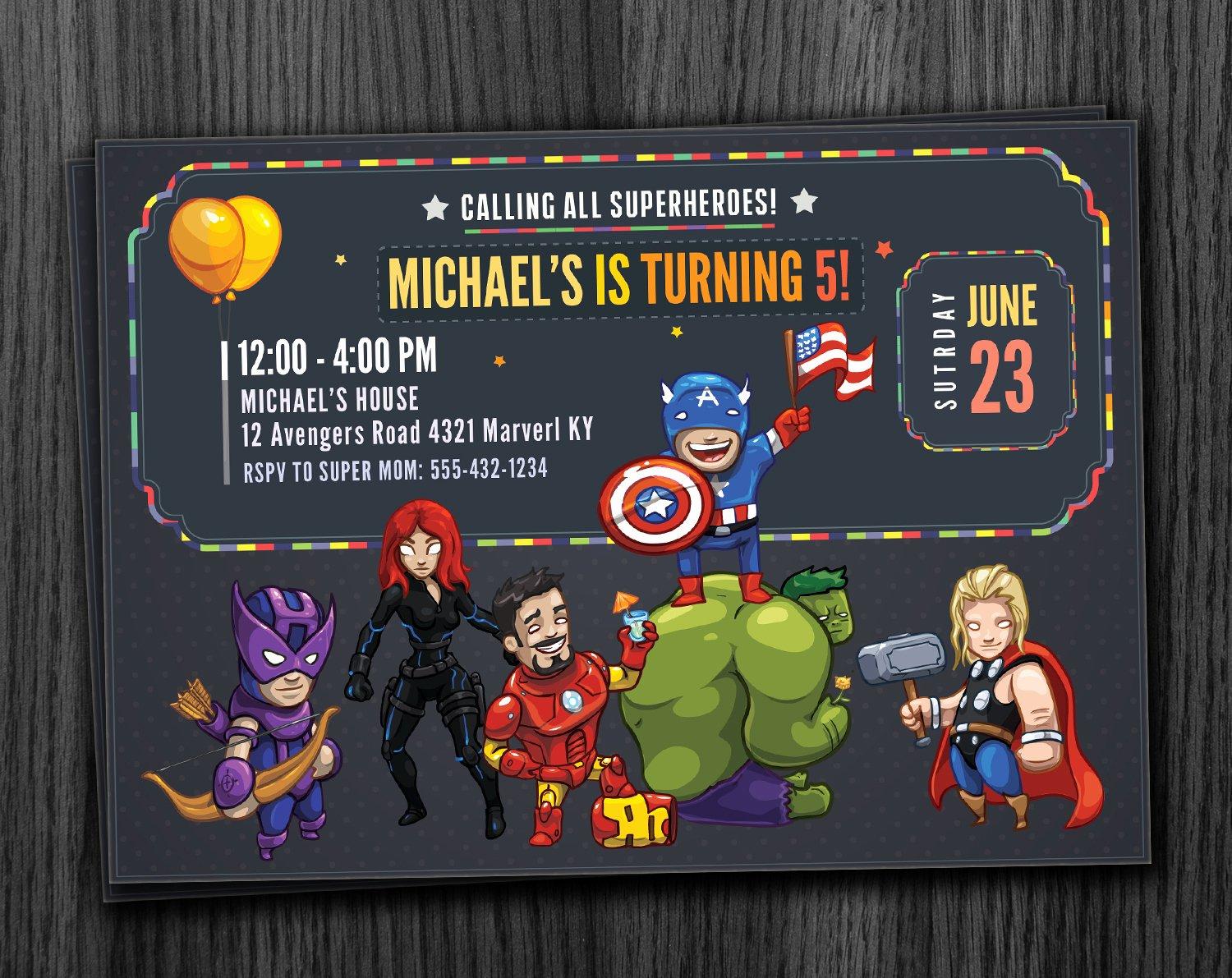 Avenger Birthday Party Invitations Awesome Avengers Invitation Birthday Printable Download