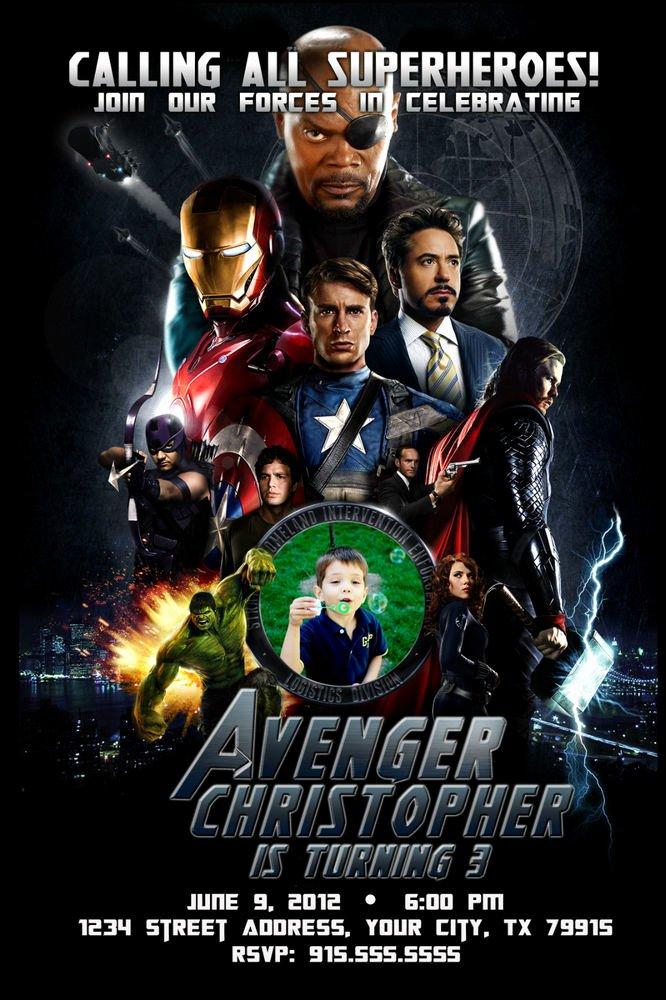Avenger Birthday Party Invitations Beautiful Avengers Custom Birthday Party Invitations Captain America