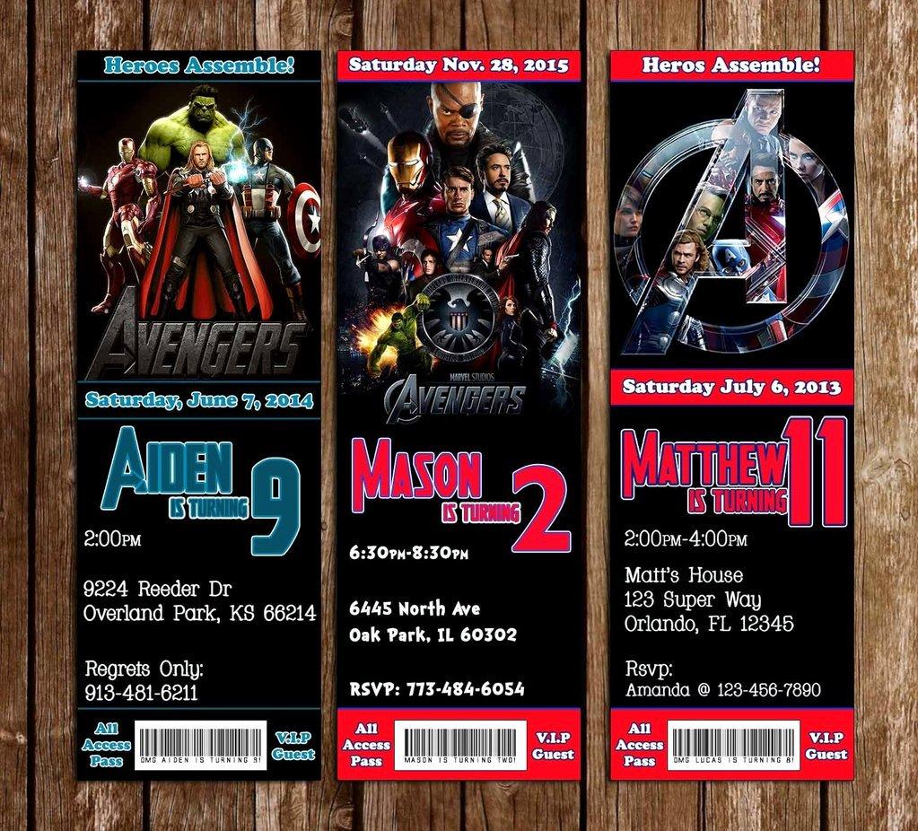 Avenger Birthday Party Invitations Best Of Novel Concept Designs Marvel the Avengers Birthday