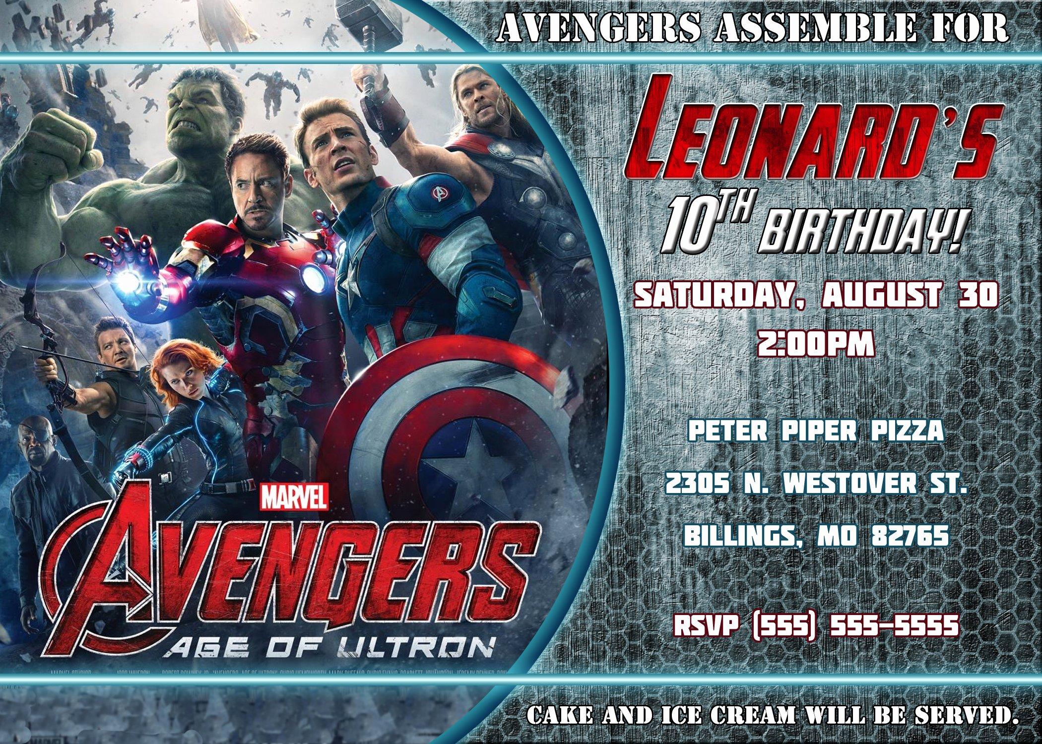 Avenger Birthday Party Invitations Fresh Avengers Birthday Invitation