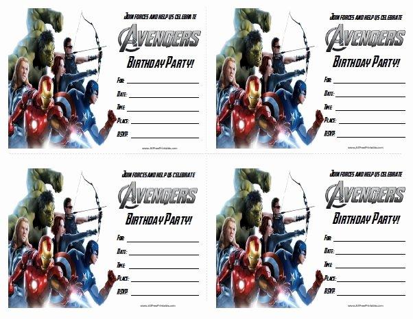 Avenger Birthday Party Invitations Fresh Free Printable the Avengers Birthday Party Invitations