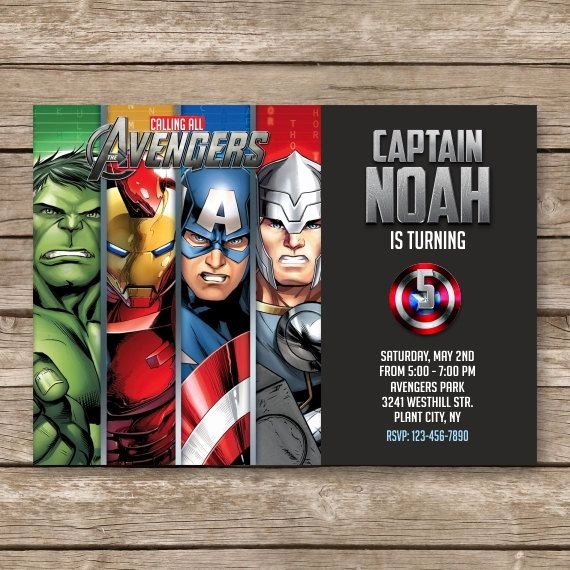 Avenger Birthday Party Invitations Inspirational Superhero Invitation Super Hero Invite Avengers by