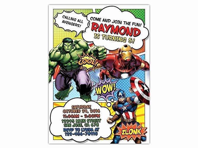 Avenger Birthday Party Invitations Lovely 48 Maker Birthday Invitation Avengers In Ms Word