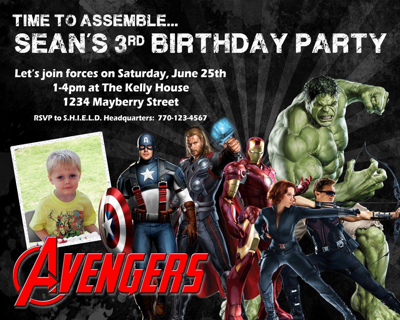 Avenger Birthday Party Invitations Luxury Avengers Birthday Invitation Design W Child S