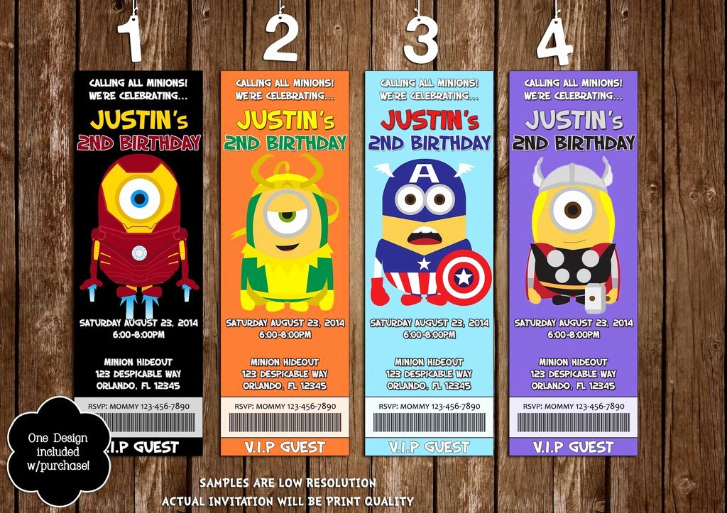 Avenger Birthday Party Invitations Luxury Novel Concept Designs the Avengers Hero Minions Birthday