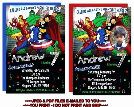 Avengers Birthday Invitations Custom Beautiful Free Printable Avengers Birthday Invitations – Cakeandmore
