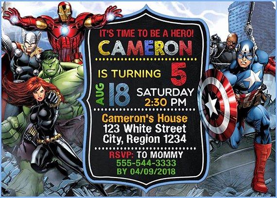 Avengers Birthday Invitations Custom Best Of Avenger Birthday Invitation Avenger Invitation Superhero