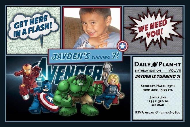 Avengers Birthday Invitations Custom Best Of Custom Avengers Invitations Cobypic