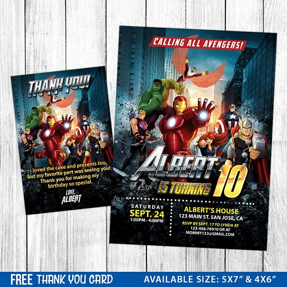 Avengers Birthday Invitations Custom Fresh Avengers Birthday Avengers Invitation Avengers Printable