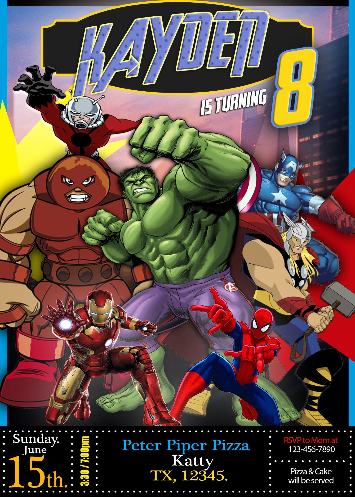 Avengers Birthday Invitations Custom Fresh Marvel Avengers Ics Birthday Invitation Oscarsitosroom