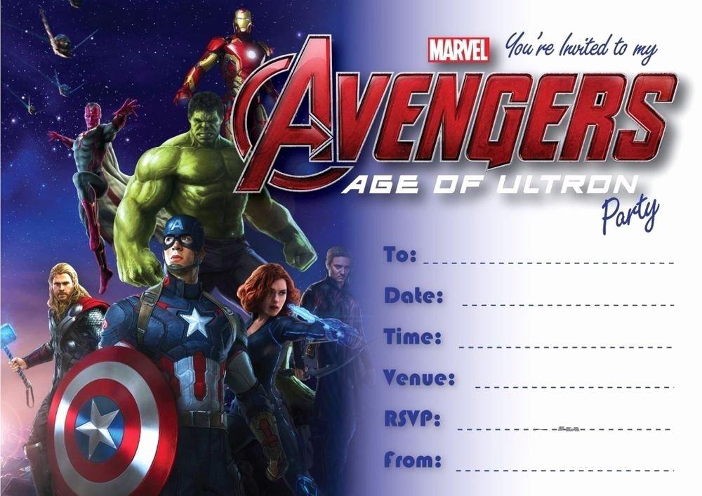 Avengers Birthday Invitations Custom Fresh Marvel Captain America Thor Hulk Avengers Boys Birthday