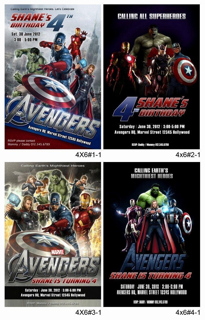 Avengers Birthday Invitations Custom Fresh Personalized Avengers Printable Birthday Party Invitation