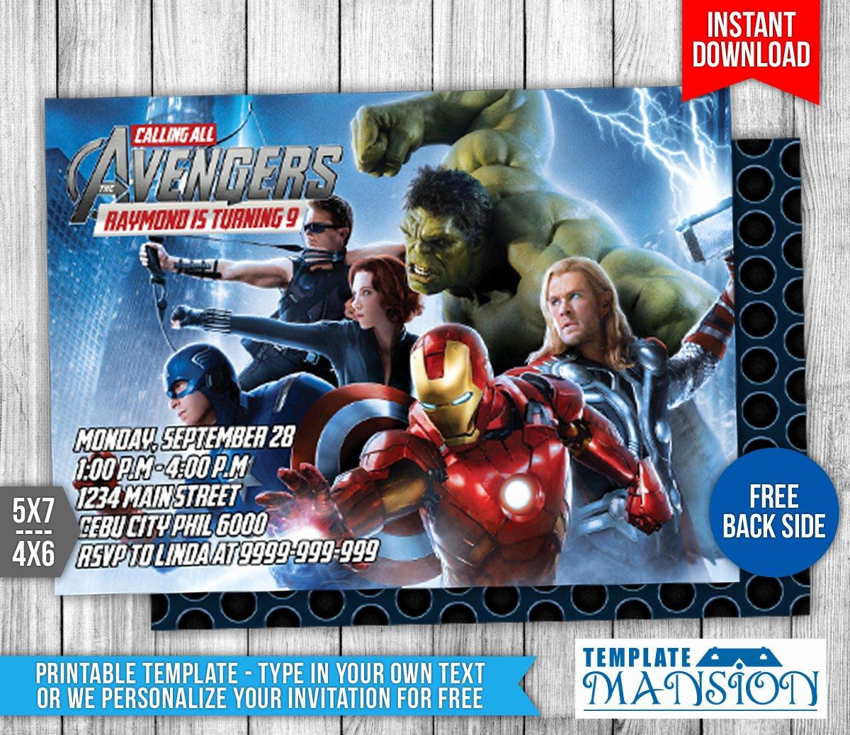 Avengers Birthday Invitations Custom Inspirational Avengers Birthday Invitation 1 by Templatemansion On