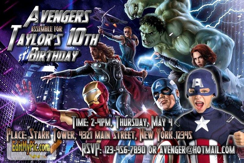 Avengers Birthday Invitations Custom Inspirational Pin by Editmypic On Customized Printable Birthday