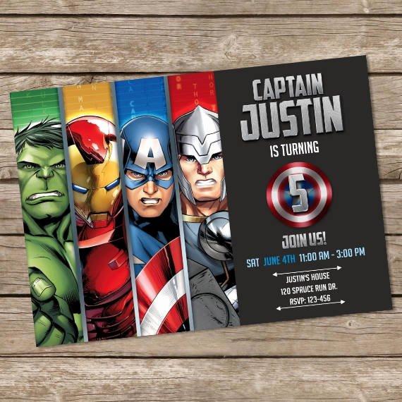 Avengers Birthday Invitations Custom Luxury Avengers Birthday Invitation Hulk Invites Avengers Birthday