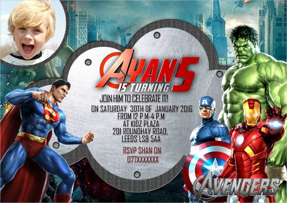 Avengers Birthday Invitations Custom Unique 34 Superhero Birthday Invitation Templates – Free Sample