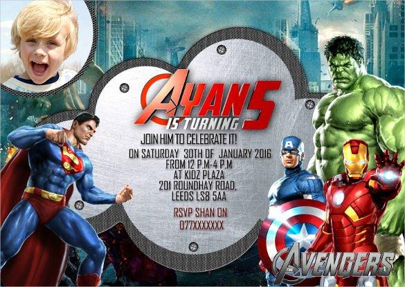 Avengers Birthday Invitations Custom Unique 34 Superhero Birthday Invitation Templates – Free Sample