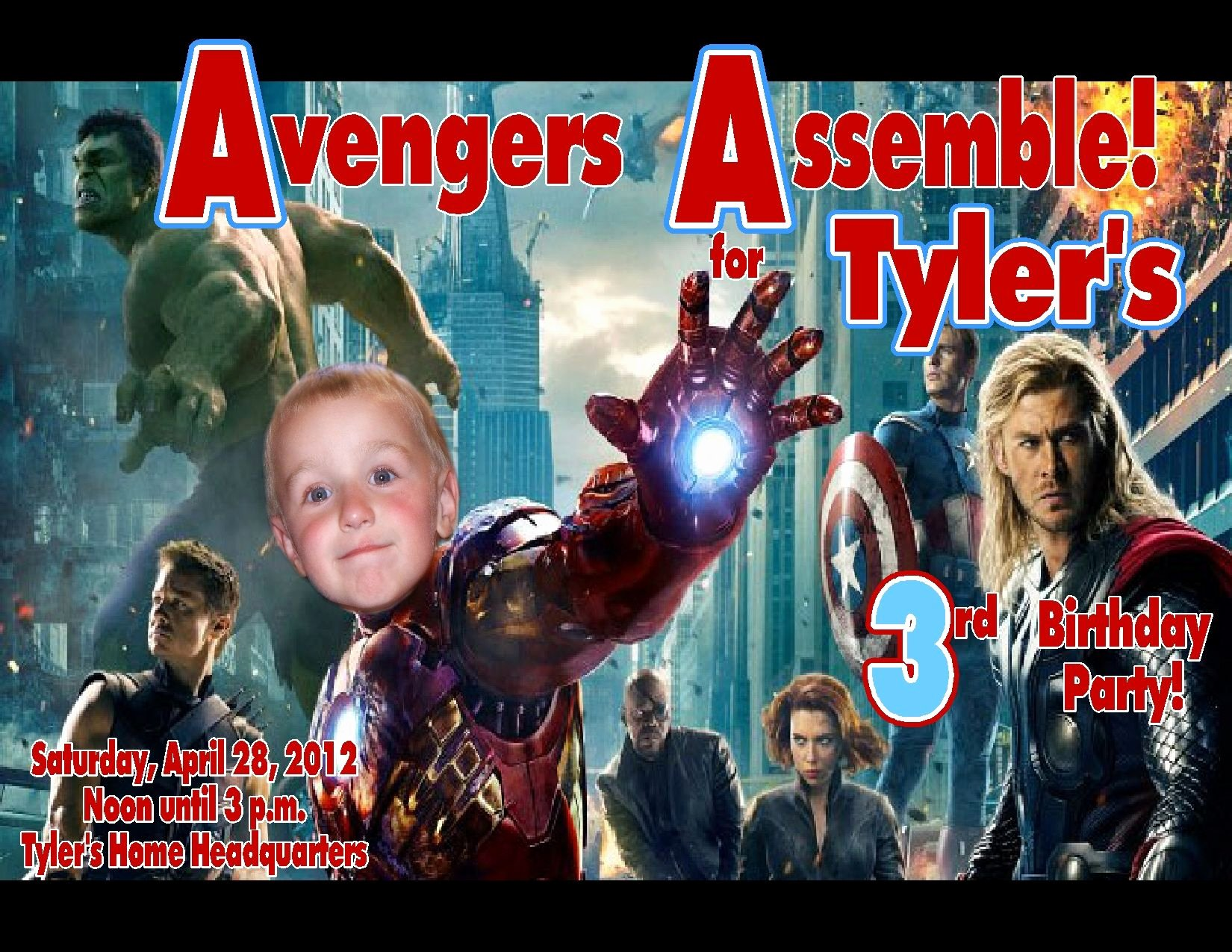 Avengers Birthday Invitations Custom Unique Avengers Personalized Birthday Invitations 2012c