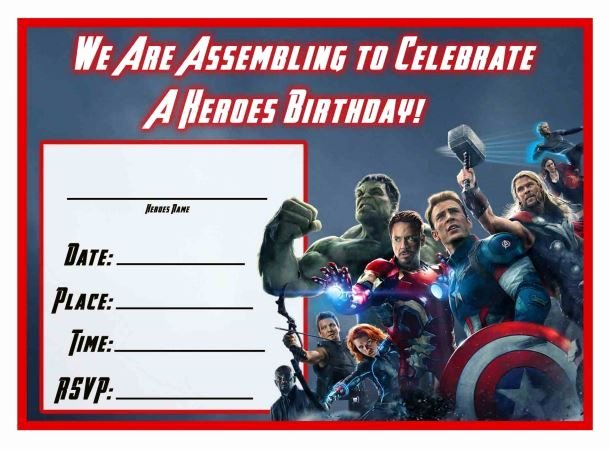 Avengers Birthday Invitations Custom Unique Free Avengers Age Of Ultron Printable Birthday Invitation