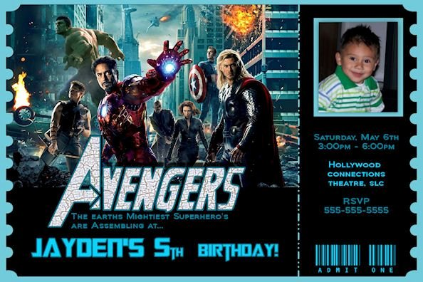 Avengers Invitations Template Free Awesome the Avengers Birthday Invitation 2 Avengers Movie