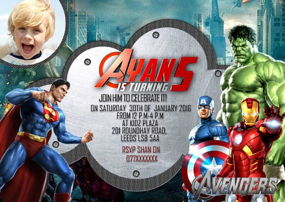 Avengers Invitations Template Free Best Of 21 Superhero Birthday Invitations Psd Vector Eps Ai
