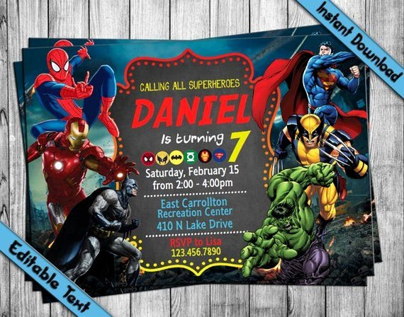 Avengers Invitations Template Free Best Of Instantly Edit and Print This Avengers