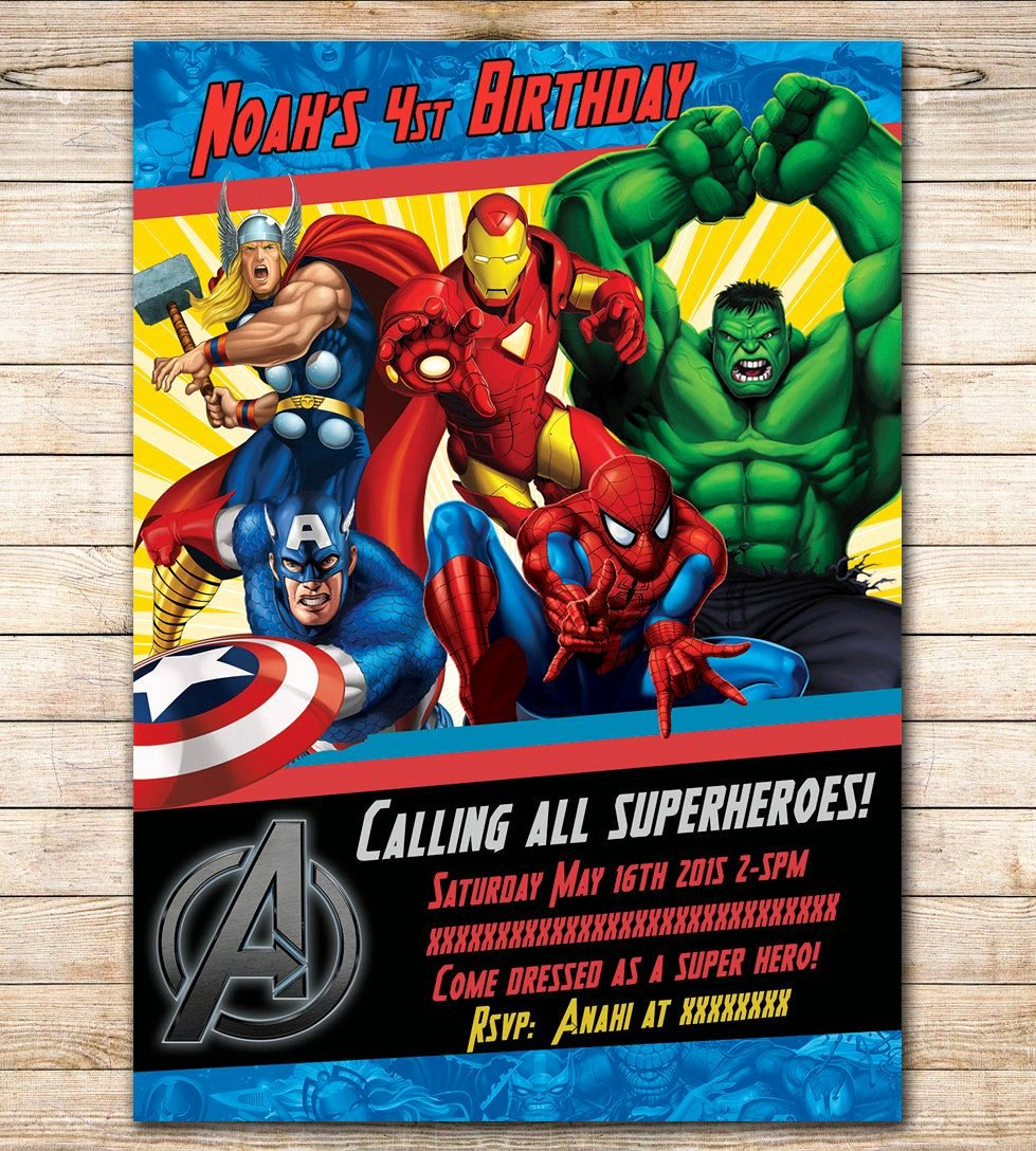 Avengers Invitations Template Free Inspirational Avengers Birthday Invitation Google Search Visit to