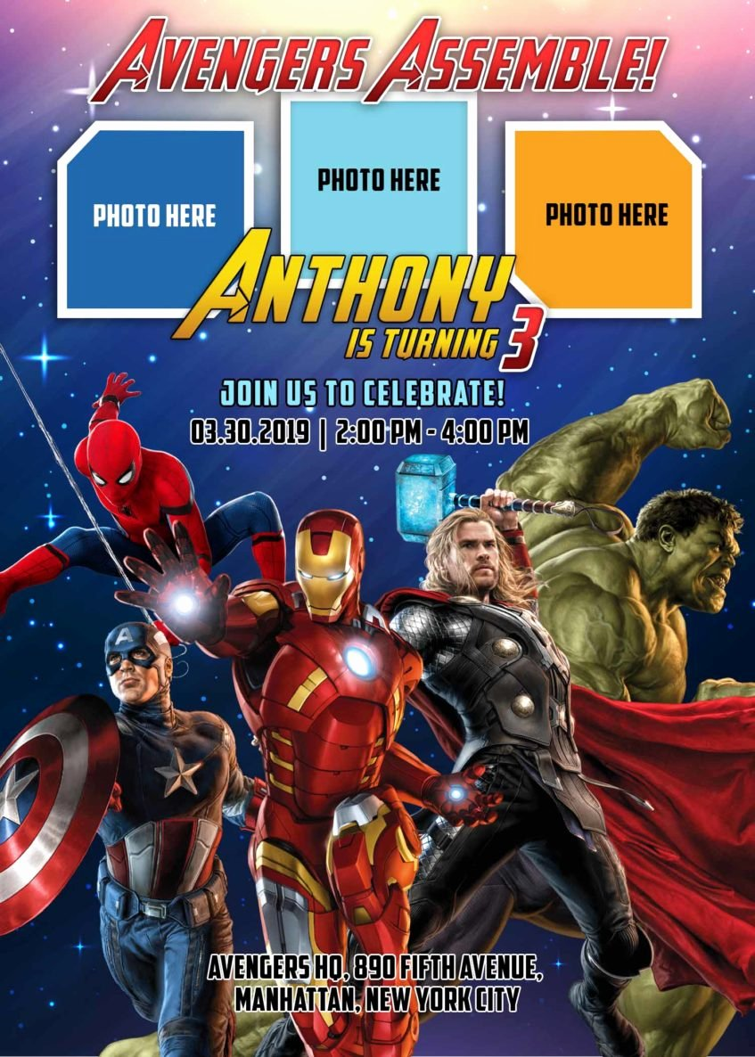 Avengers Invitations Template Free New Avengers Invitation Birthday Template