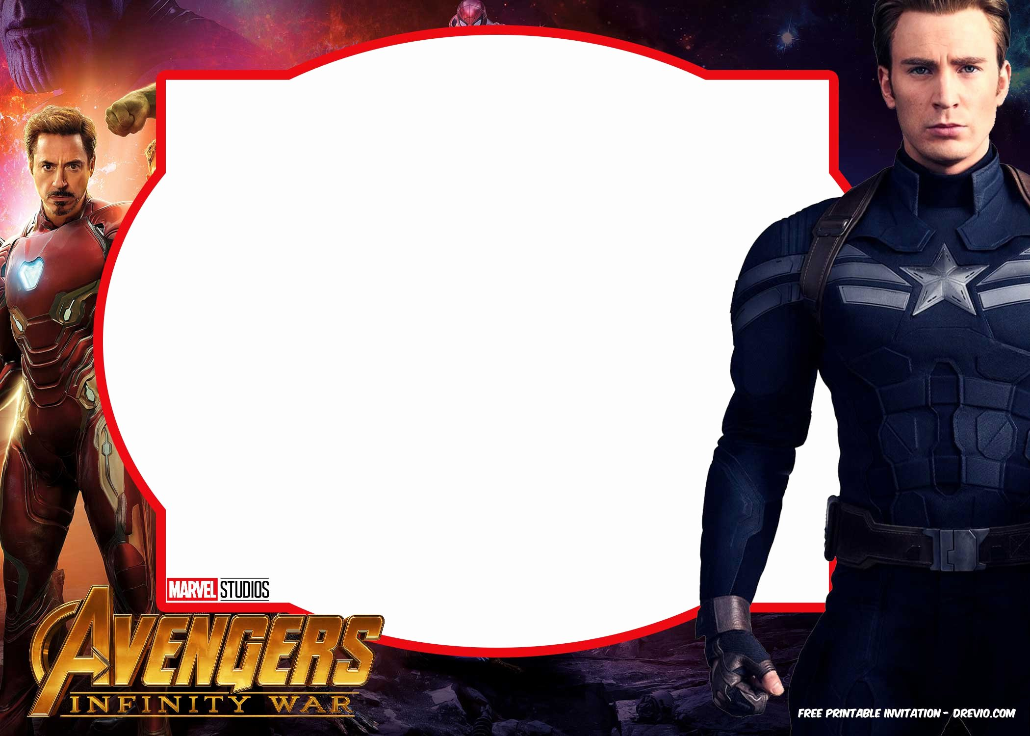 Avengers Invitations Template Free New Free Avengers Infinity Wars Invitations Template – Free
