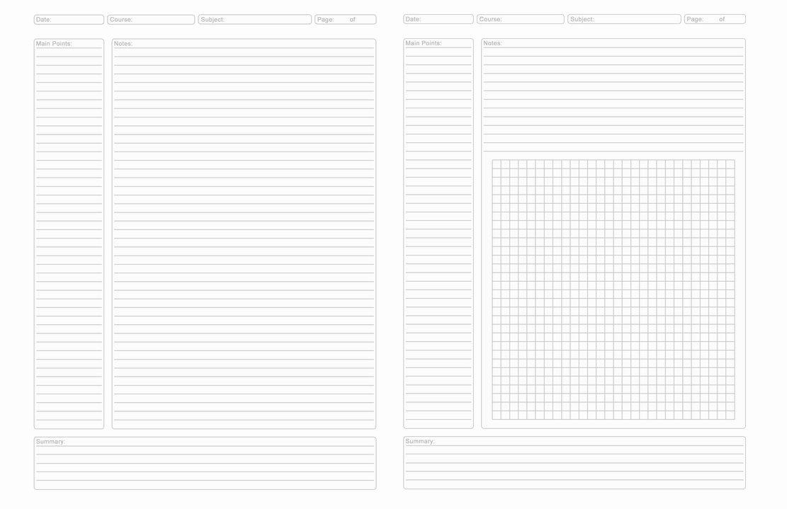 Avid Cornell Note Template Fresh Avid Cornell Notes Template Printable
