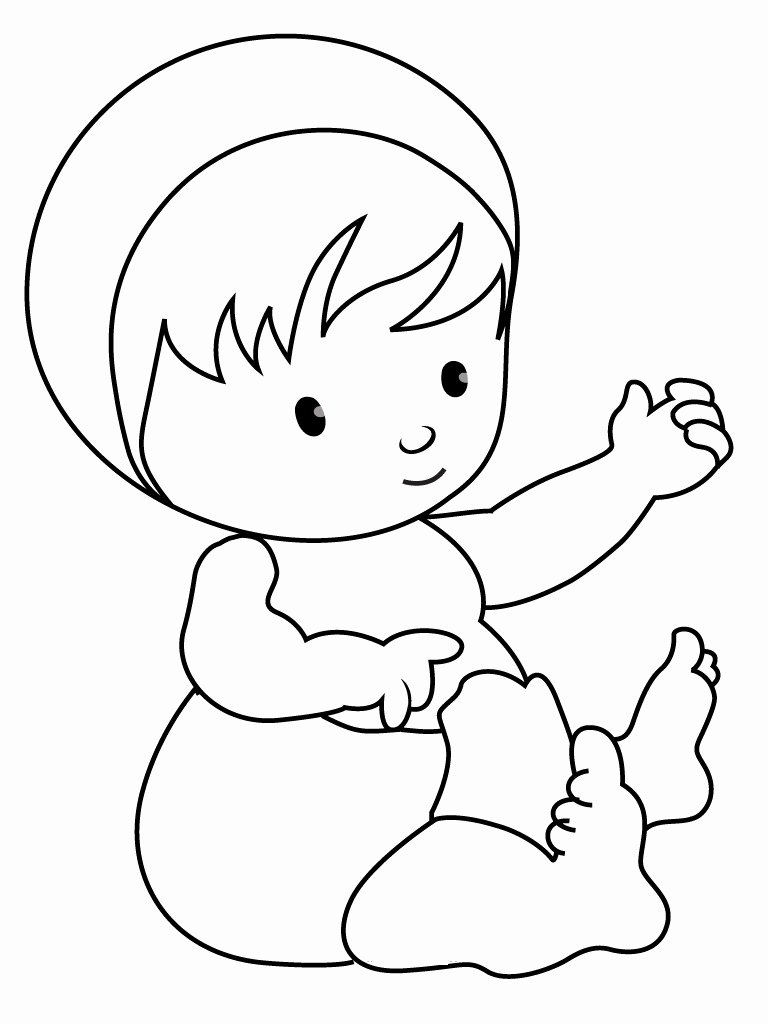 Baby Animal Colouring Pictures Luxury Free Printable Baby Coloring Pages for Kids