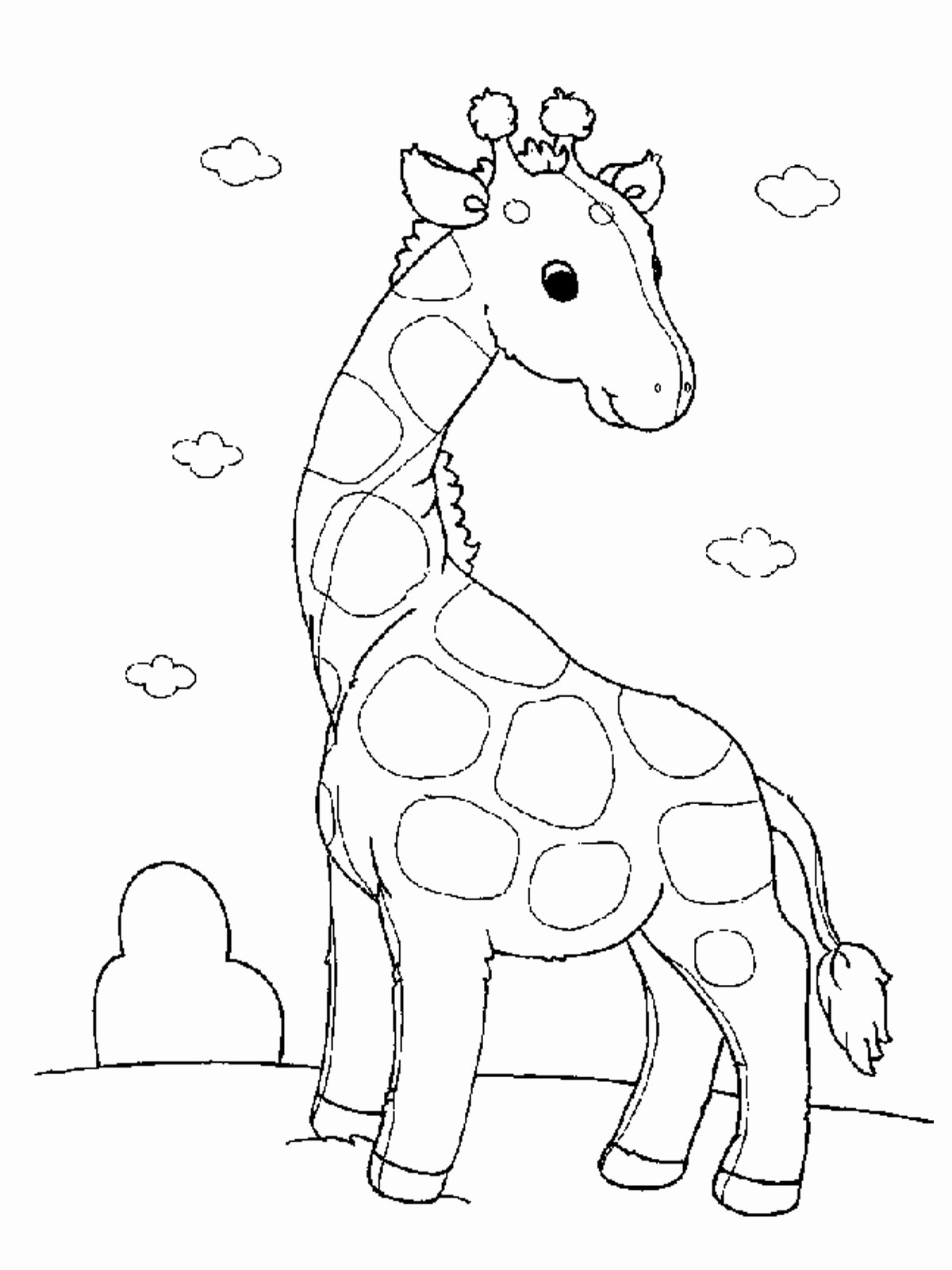 Baby Animals Colouring Pictures Best Of Free Printable Giraffe Coloring Pages for Kids