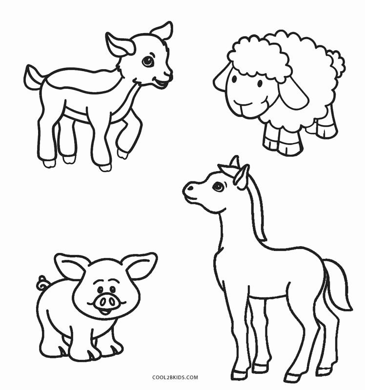 Baby Animals Colouring Pictures Inspirational Free Printable Farm Animal Coloring Pages for Kids