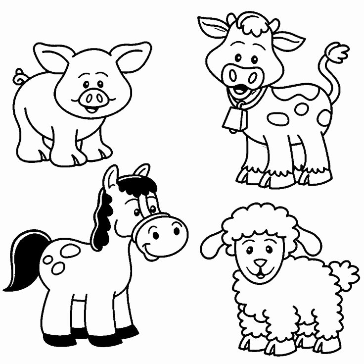 Baby Animals Colouring Pictures Lovely Baby Farm Animal Coloring Pages